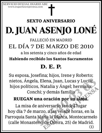 Juan Asenjo Loné